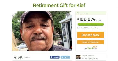 screenshot da gofundme