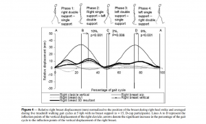 Scurr, J., White, J., & Hedger, W. (2009). Breast displacement in three dimensions during the walking and running gait cycles. Journal of Applied Biomechanics, 25(4), 322.