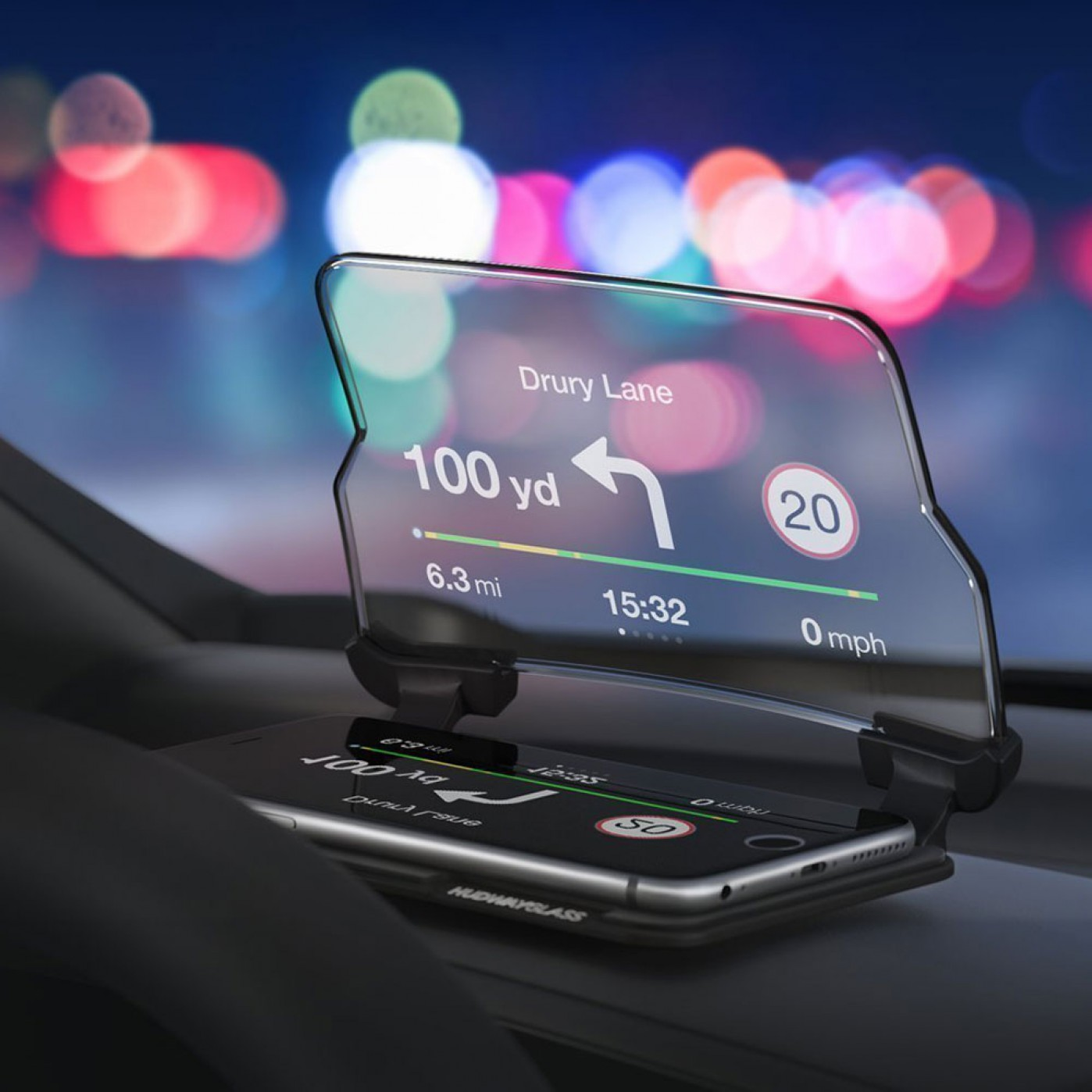 head up display per cellulare